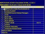 keputusan audit dalaman 5s bil 3 2011 bertarikh 19 05 2011 bagi zon rose