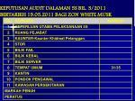 keputusan audit dalaman 5s bil 3 2011 bertarikh 19 05 2011 bagi zon white musk