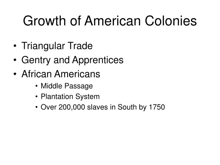 Growth of American Colonies