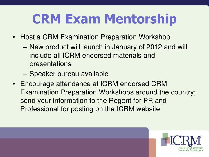 CRM Exam Mentorship