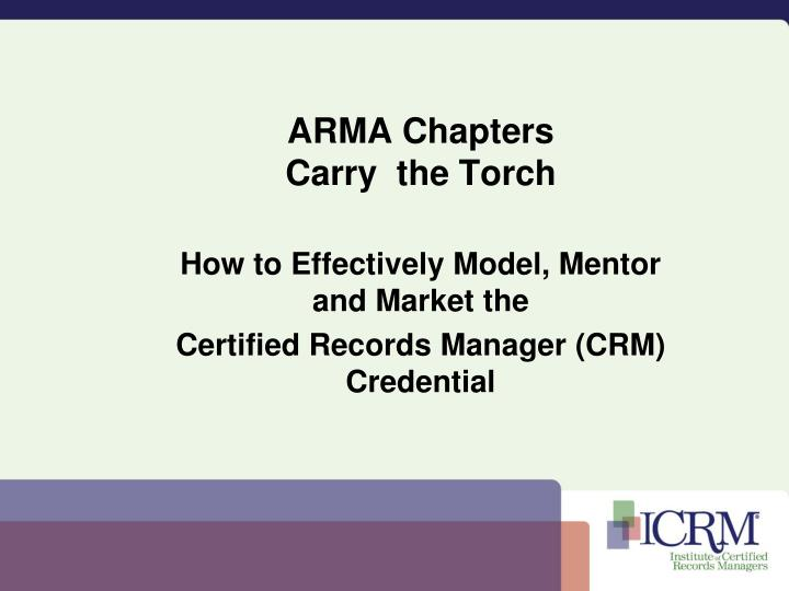 ARMA Chapters
