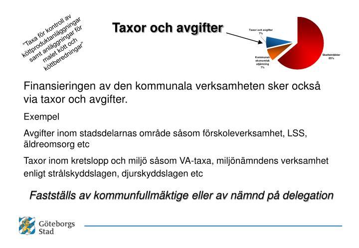 Taxor och avgifter