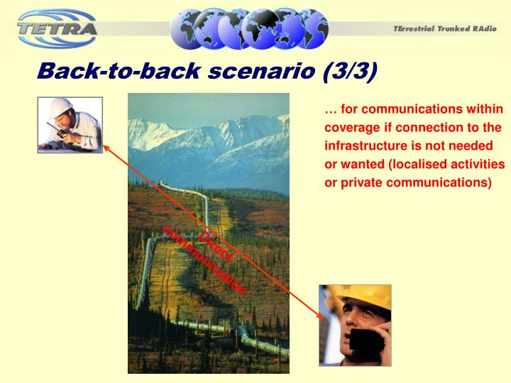 Back-to-back scenario (3/3)
