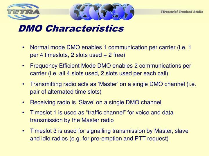 DMO Characteristics