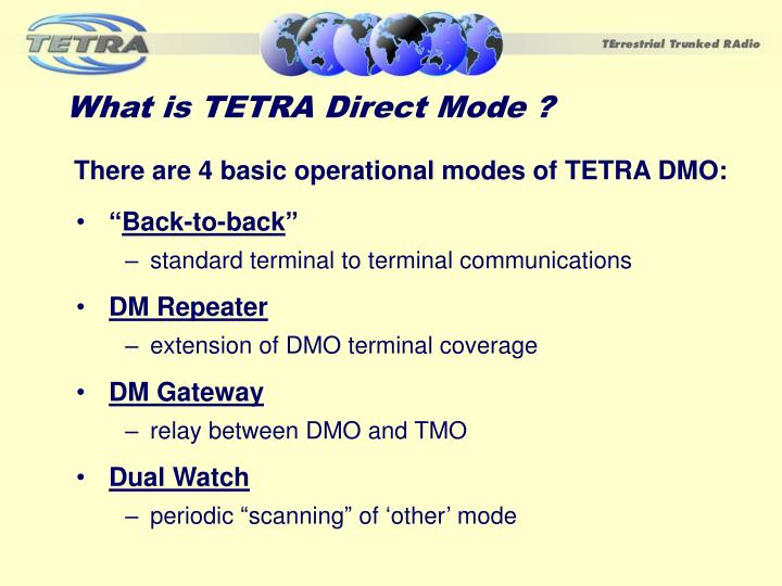 What is TETRA Direct Mode ?