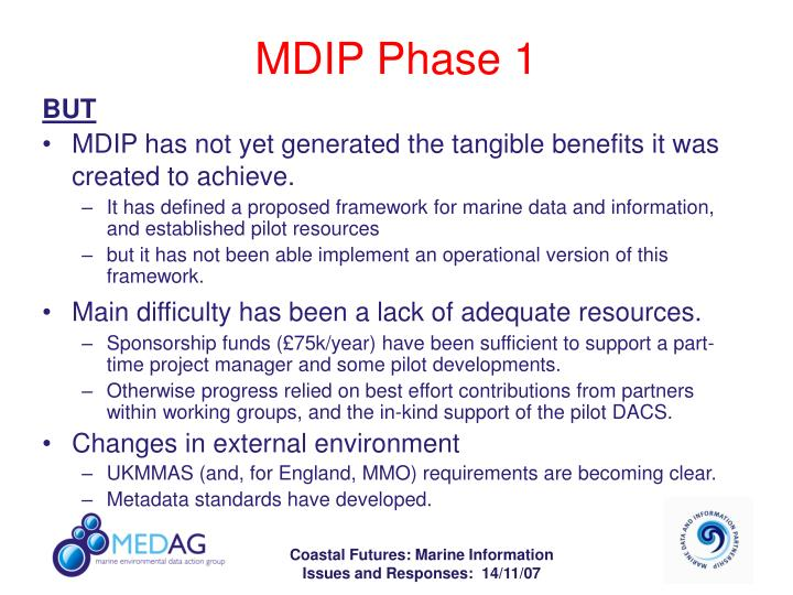 MDIP Phase 1