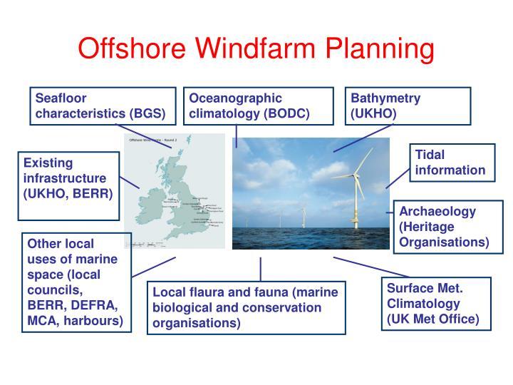 Offshore windfarm planning