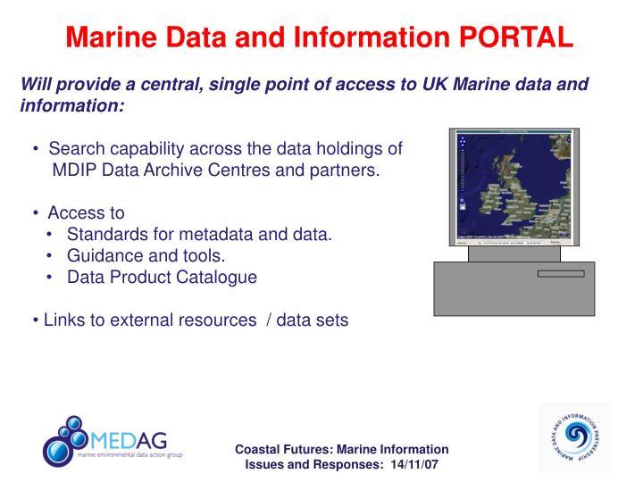 Marine Data and Information PORTAL