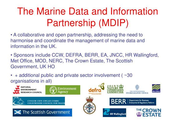 The Marine Data and Information Partnership (MDIP)
