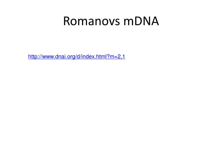 Romanovs mDNA