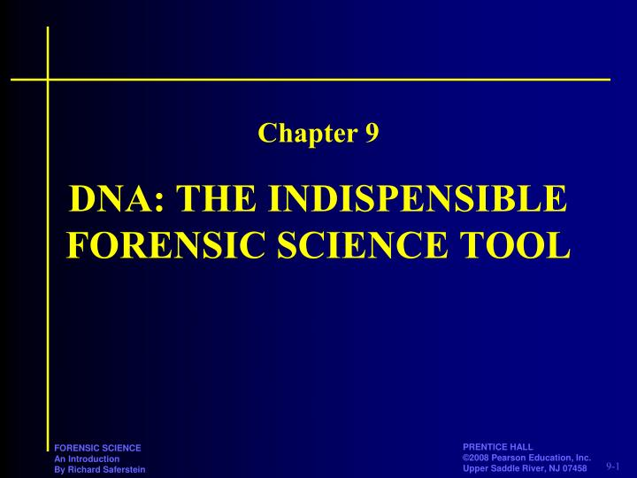 dna the indispensible forensic science tool n.