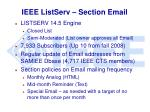 ieee listserv section email