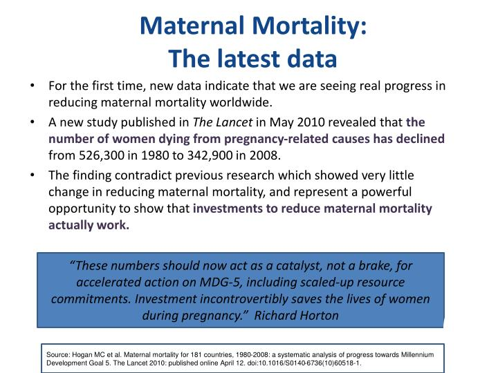 Maternal Mortality: