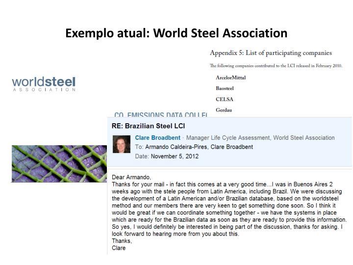 Exemplo atual: World Steel