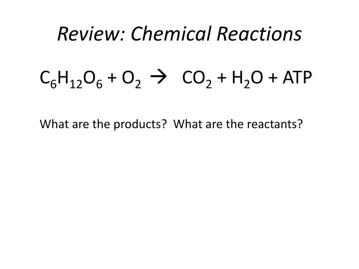 Review: Chemical Reactions