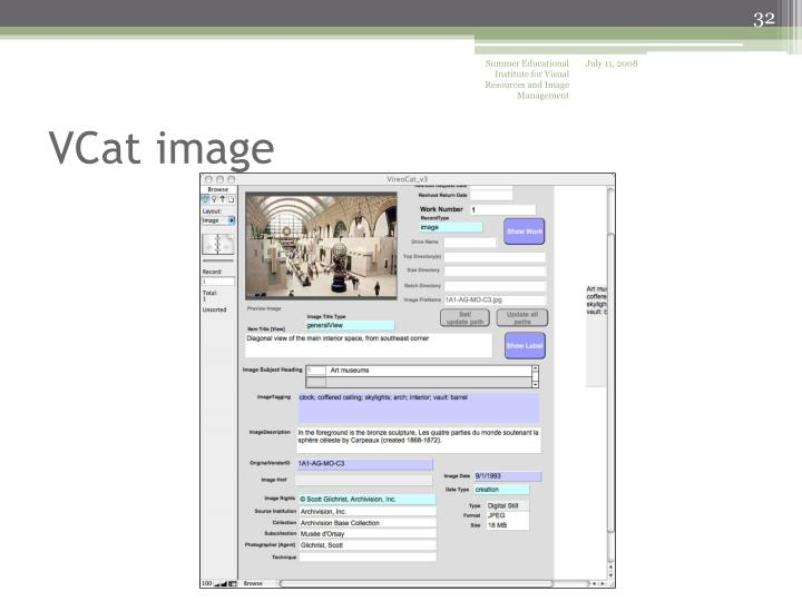 Summer Educational Institute for Visual Resources and Image Management