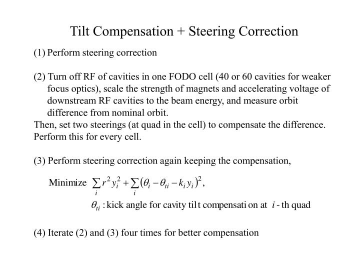 Tilt Compensation + Steering Correction