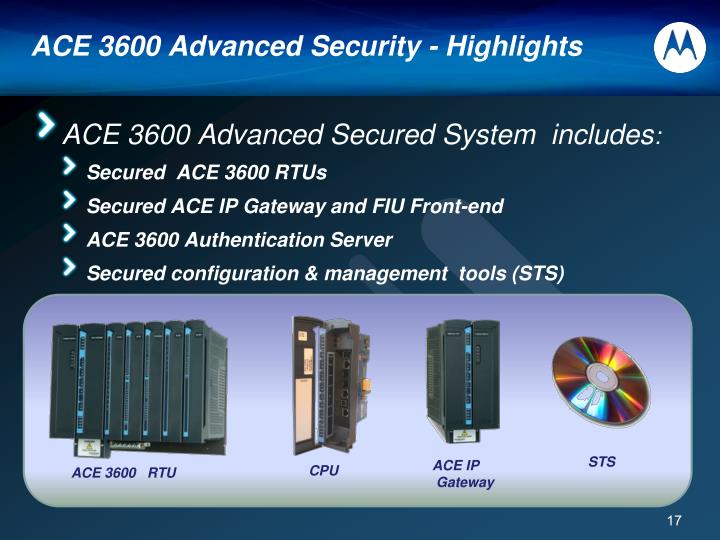 ACE 3600 Advanced Security - Highlights