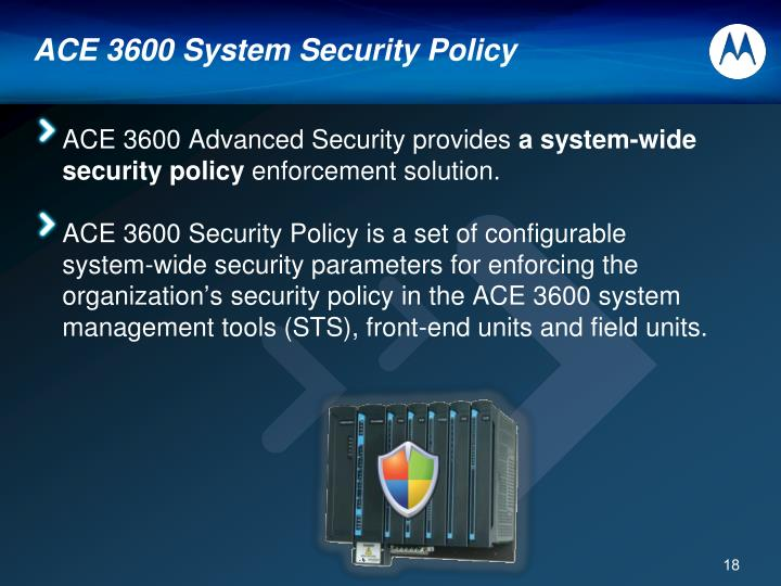 ACE 3600 System Security Policy