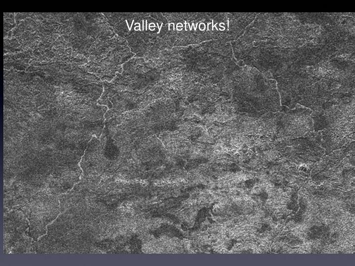 Valley networks!