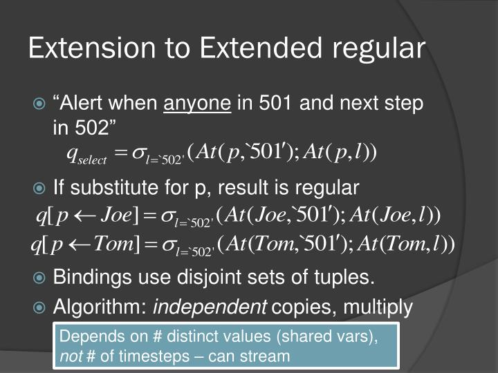 Extension to Extended regular