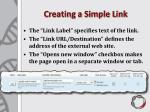 creating a simple link