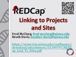 linking to projects and sites