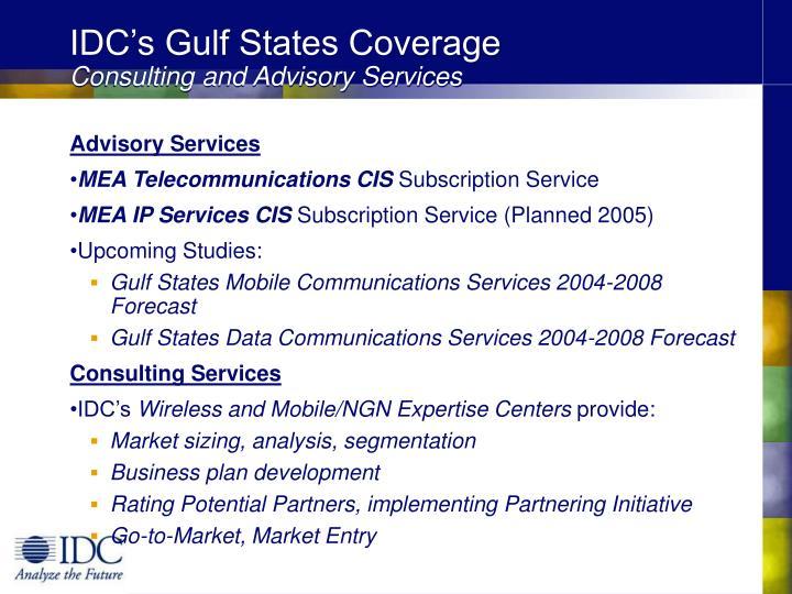 IDC's Gulf States Coverage