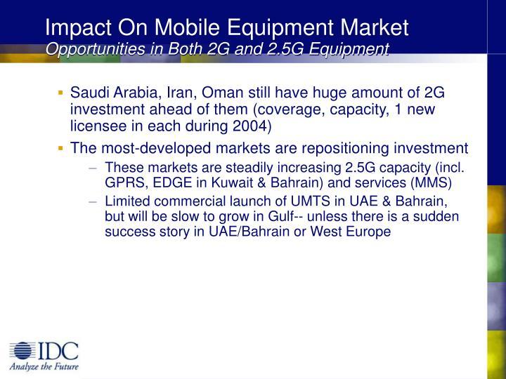 Impact On Mobile Equipment Market