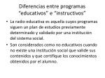 d iferencias entre programas educativos e instructivos