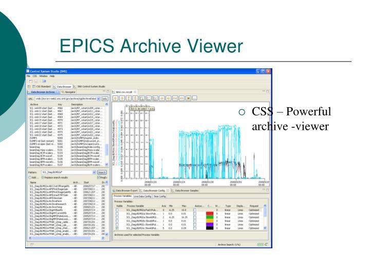 EPICS Archive Viewer
