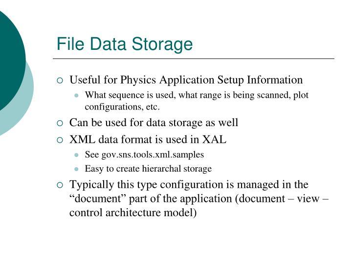 File Data Storage