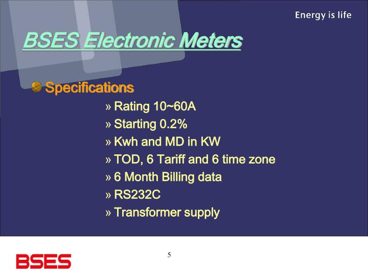 BSES Electronic Meters