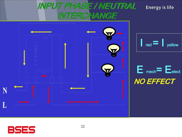 INPUT PHASE / NEUTRAL