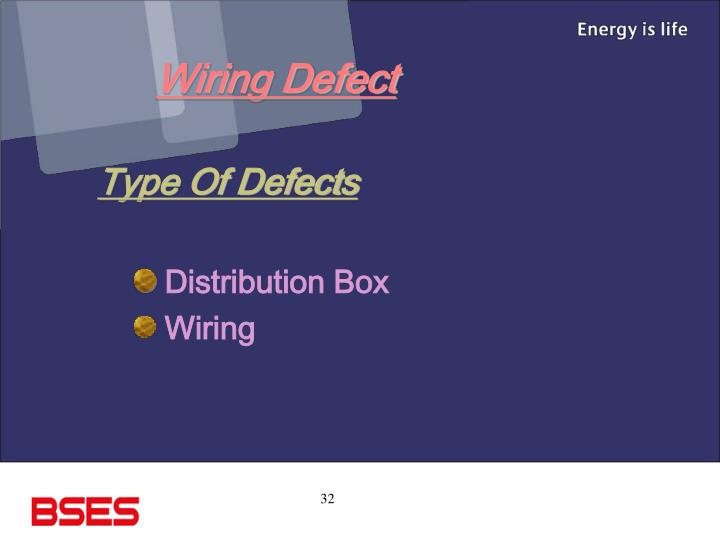 Wiring Defect