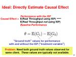 ideal directly estimate causal effect