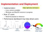 implementation and deployment