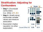 stratification adjusting for confounders