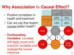 why association causal effect