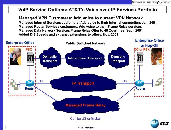 VoIP Service Options: AT&T's Voice over IP Services Portfolio