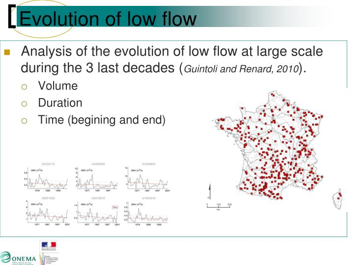 Evolution of low flow