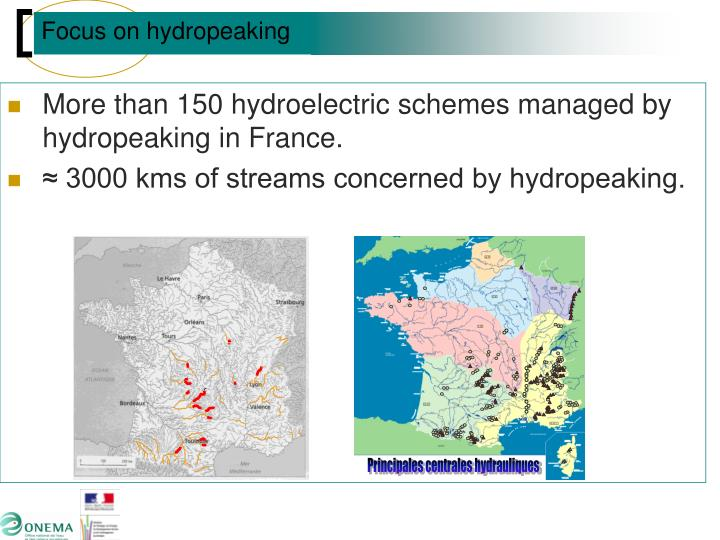 Principales centrales hydrauliques