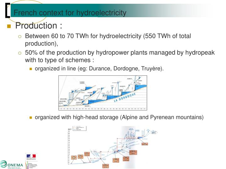 French context for hydroelectricity