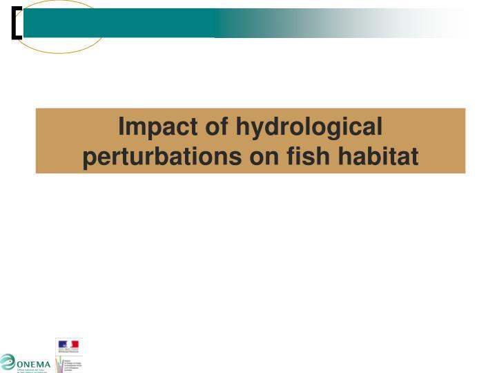 Impact of hydrological perturbations on fish habitat