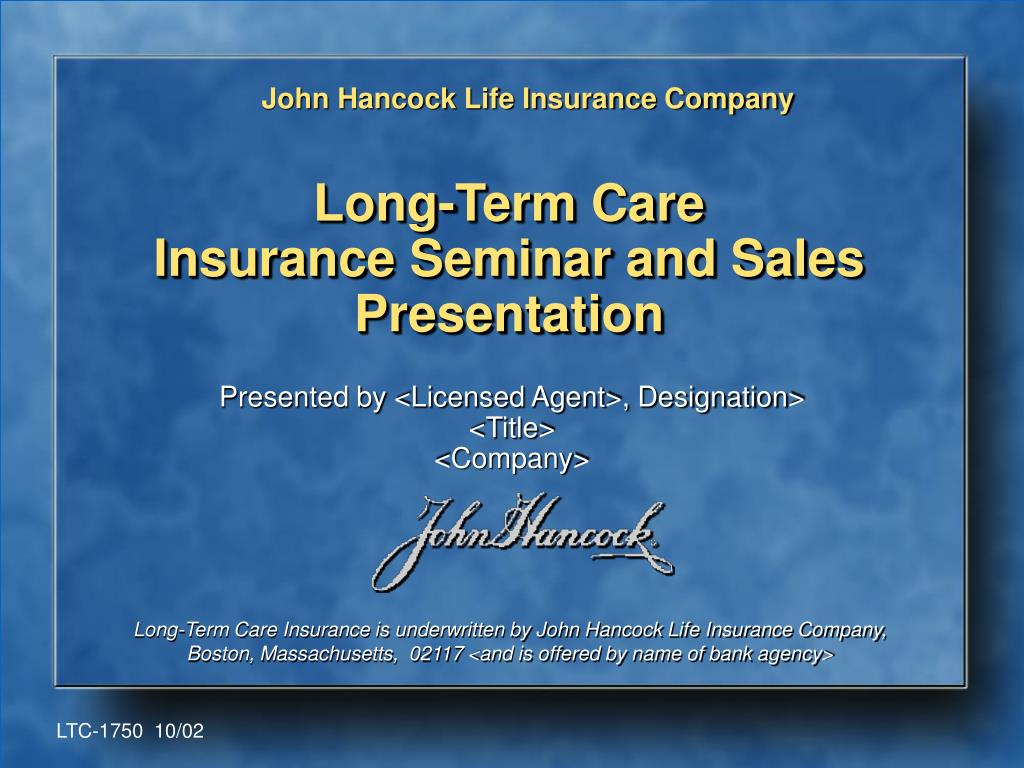 Ppt Long Term Care Insurance Seminar And Sales Presentation