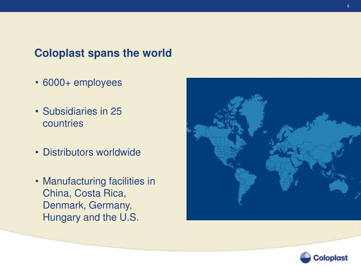 Coloplast spans the world