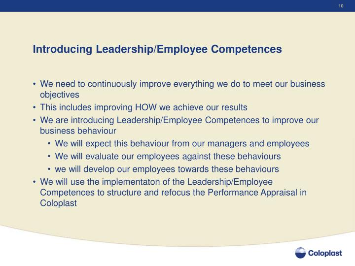 Introducing Leadership/Employee Competences