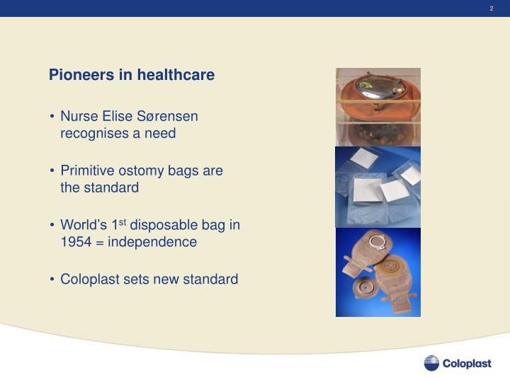 Pioneers in healthcare