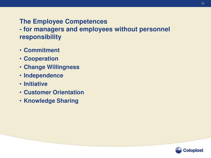 The Employee Competences