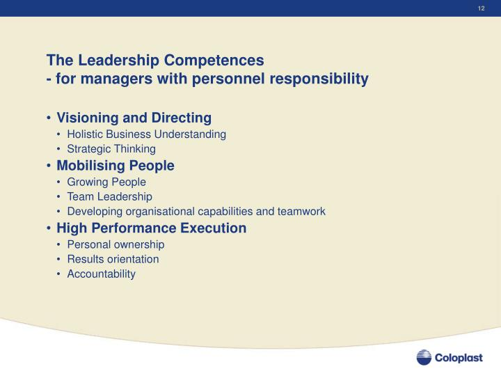The Leadership Competences